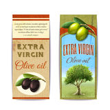 Olive oil vertical banners set Stock Photos