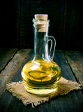 Olive oil in a vessel. Royalty Free Stock Image