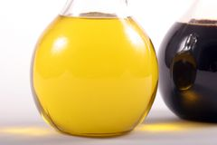 Olive oil and vinegar Stock Image
