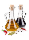 Olive oil and vinegar Stock Images