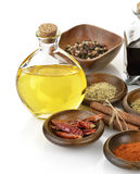 Olive Oil,Vinegar And Spices Royalty Free Stock Images
