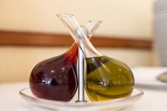 Olive oil and vinegar Royalty Free Stock Photography