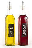 Olive Oil and Vinigar Royalty Free Stock Photos