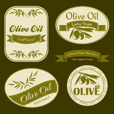 Olive oil vintage labels Stock Photography