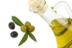 Olive oil on white Stock Images