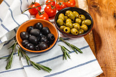Olive Oil With Fresh Olives Stock Images