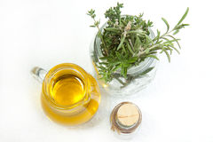 Olive Oil With Provence Herb Royalty Free Stock Photography