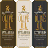 Olive oils. Set of labels for olive oils Stock Images
