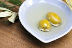 Olive in olio Fotografia Stock Libera da Diritti