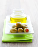 Olive and olive oil Stock Image