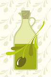 Olive and olives oil. Illustration of the olive and olives oil Royalty Free Stock Photo
