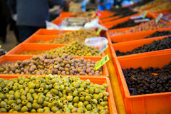 Olive on Open Market Bazaar Stock Photography