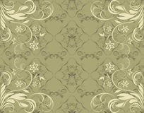 Olive ornamental background Royalty Free Stock Image