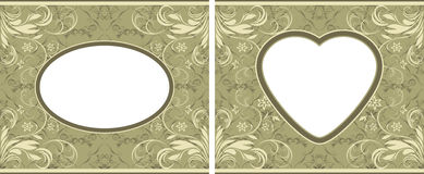 Olive ornamental frames Stock Photo