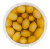 Olive pail above isolated Stock Image