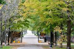 Olive Park in Chicago. Gate of Olive Park in Chicago, beside Navy Pier. Photo taken in Oct. 5th, 2014 Stock Images
