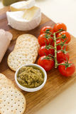 Olive Pate And Crackers Royalty Free Stock Image