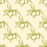Olive pattern Stock Photos