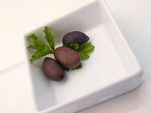 Olive in piatto Fotografia Stock Libera da Diritti