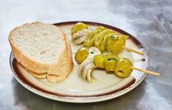 Olive pintxo Stock Image