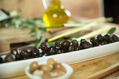 Olive plate Stock Image
