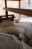 olive press för cyprus olja royaltyfri foto