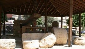 olive press för cyprus olja royaltyfri fotografi