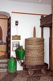Olive press in museum, Mijas. Stock Image