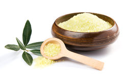 Olive salt theraphy Stock Photo