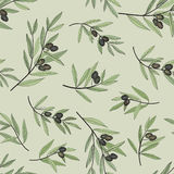 Olive seamless pattern.Nature food wallpaper Royalty Free Stock Photos