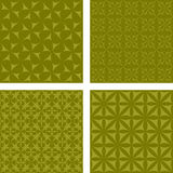 Olive seamless pattern set Stock Images