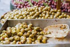 Olive in serie immagine stock