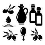 Olive set. Black silhouettes. Vector royalty free illustration