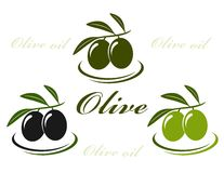 Olive set Royalty Free Stock Photos