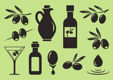 Olive set. Vector illustration stock illustration