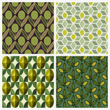 Olive. Set of vector seamless backgrounds Royalty Free Stock Photography