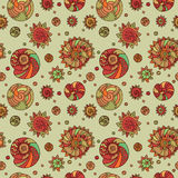 Olive shells seamless pattern background stock photos