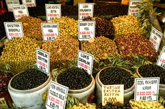 The Olive Shop. Istanbul Stock Images
