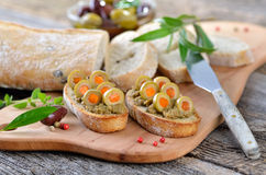 Olive snack Royalty Free Stock Image