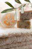 Olive soap royalty free stock photo
