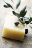 Olive soap Royalty Free Stock Images