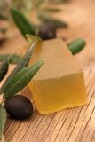 Olive soap Stock Photo