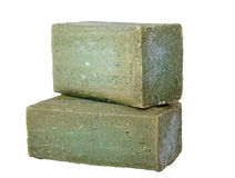 Olive soap bars Royalty Free Stock Photos