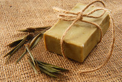 Olive soap Royalty Free Stock Photography