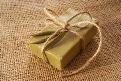 Olive soap Stock Image