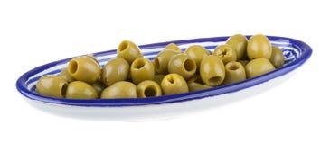 Olive sopra fondo bianco Immagine Stock