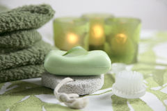 Olive spa set Stock Photography