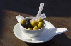 Olive spagnole dei Tapas Immagini Stock