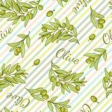 Olive Stripped Pattern Foto de archivo