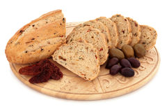Olive and Sun Dried Tomato Bread Stock Image